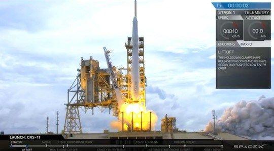 再利用ドラゴン補給船搭載「ファルコン9」打ち上げ実施! ロケット第1段は着陸 | sorae.jp : 宇宙(そら)へのポータルサイト