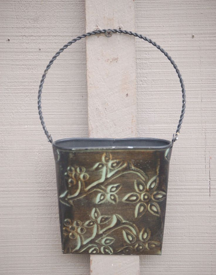 Decorative Wall Pockets Metal : Images about tin wall pockets on buckets