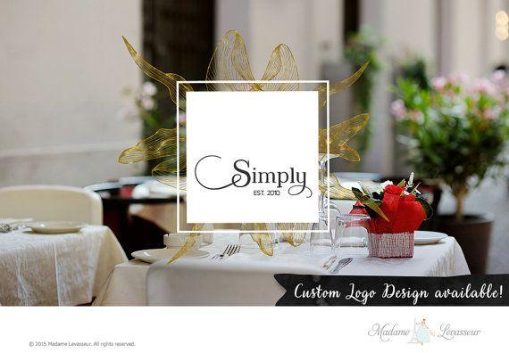 Custom Logo Design Vintage Logo rétro Logo Logo par TheParisWife