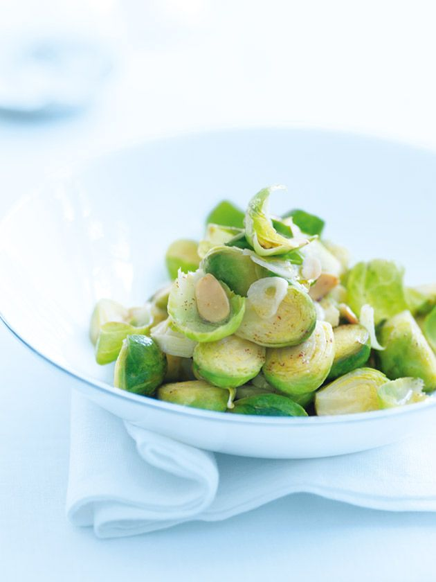 brussels sprouts with lemon, garlic and almonds