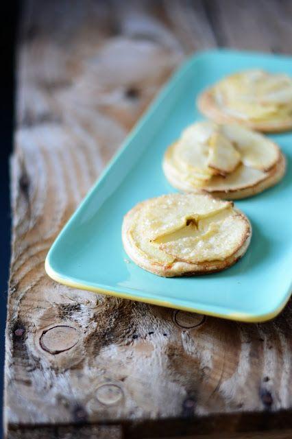 Tartelettes aux pommes, pâte brisée au cantal