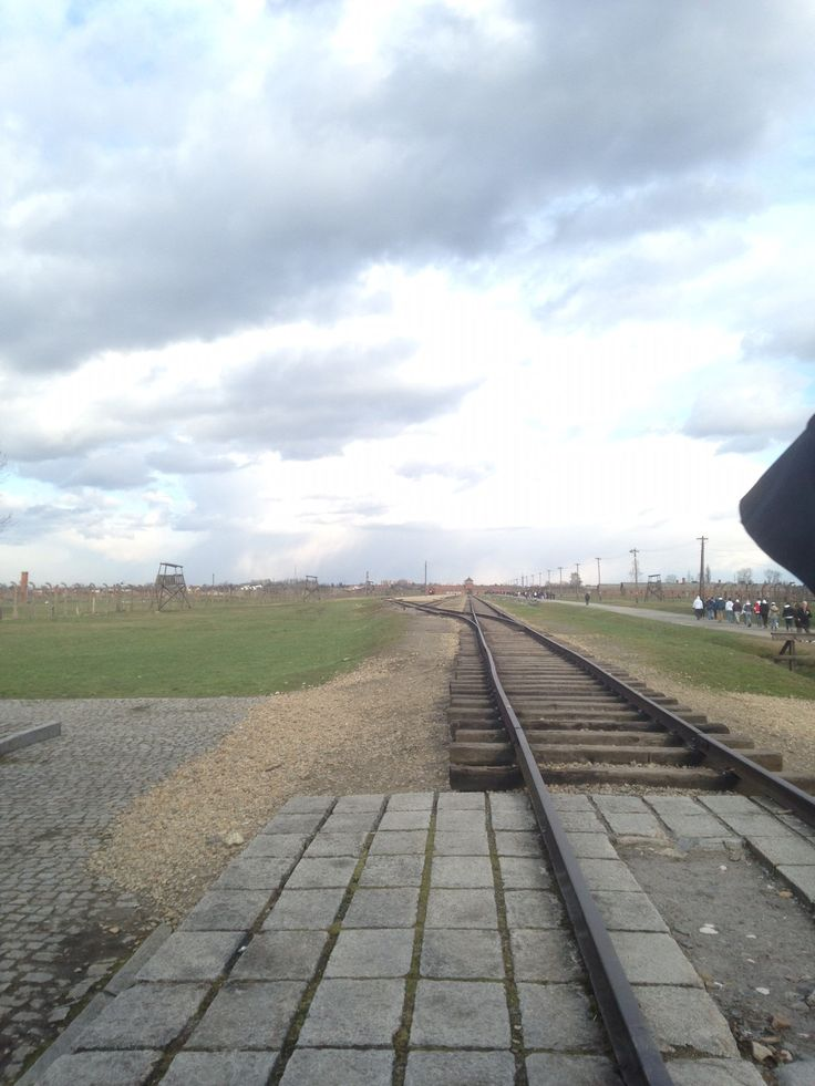 Train track to Birkenau camp