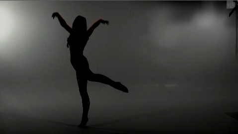 Frame taken from a video i have shot today of my friend (Ruth Devine) doing a dance within the studio space at university  with added edit in Adobe After Effects using the brightness and contrast tools.