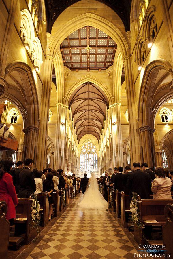 St Mary's Cathedral Sydney Wedding. Image: Cavanagh Photography http://cavanaghphotography.com.au