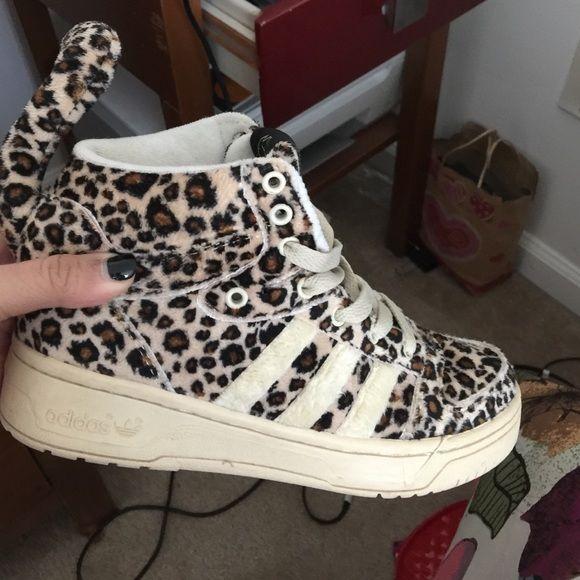 Jeremy Scott Adidas Leopard print with tail. Jeremy Scott adidas Adidas Shoes Sneakers