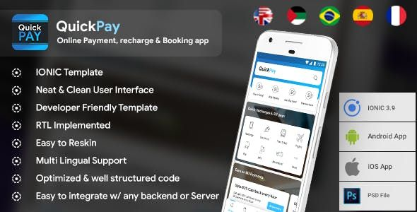 QuickPay is an online Payment and wallet Application for recharges