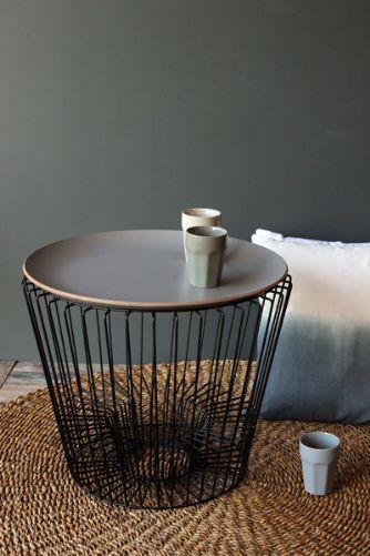 Coffee Table Magazine Rack Grey Tray