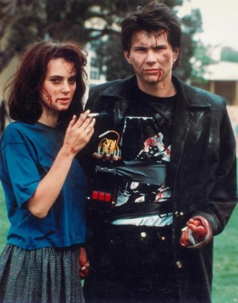 "Winona Ryder and Christian Slater as Veronica Sawyer and JD in ""Heathers"" (1989"