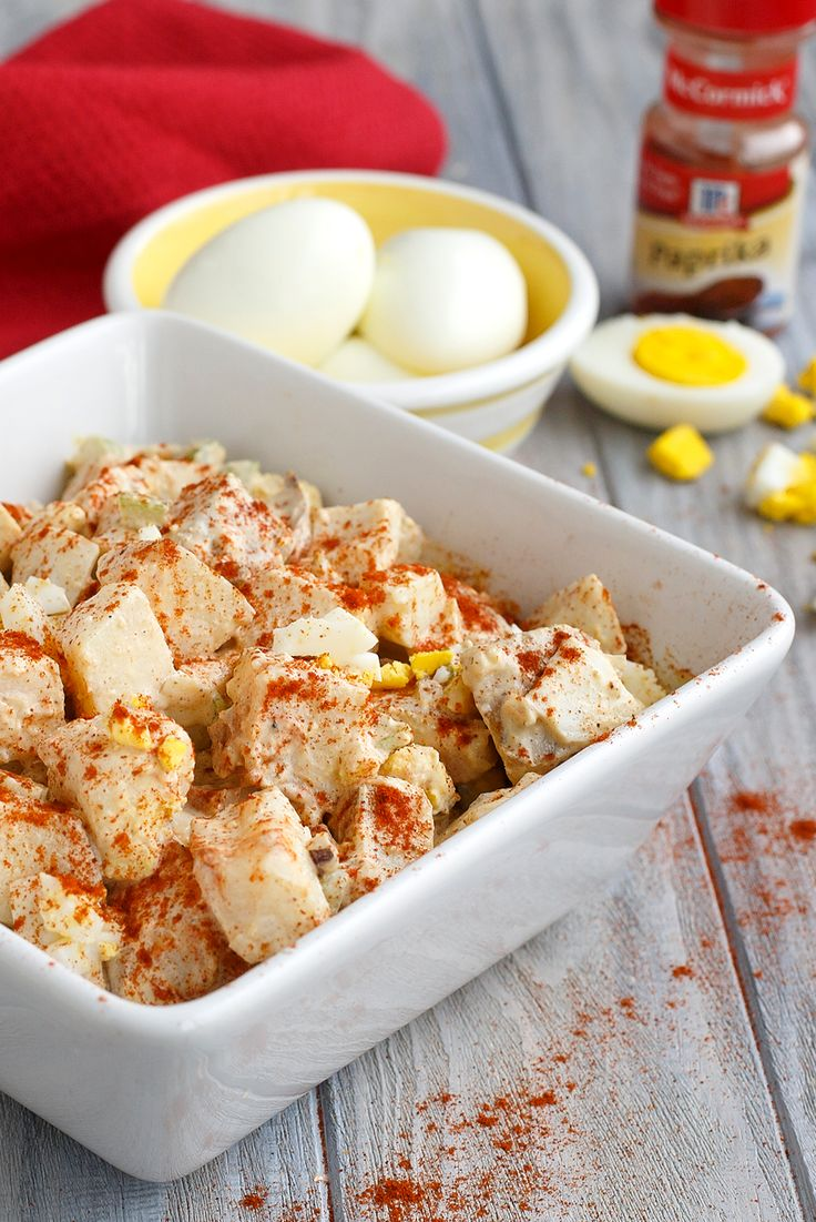 17 best images about easter springtime recipes on for How to make homemade deviled egg potato salad