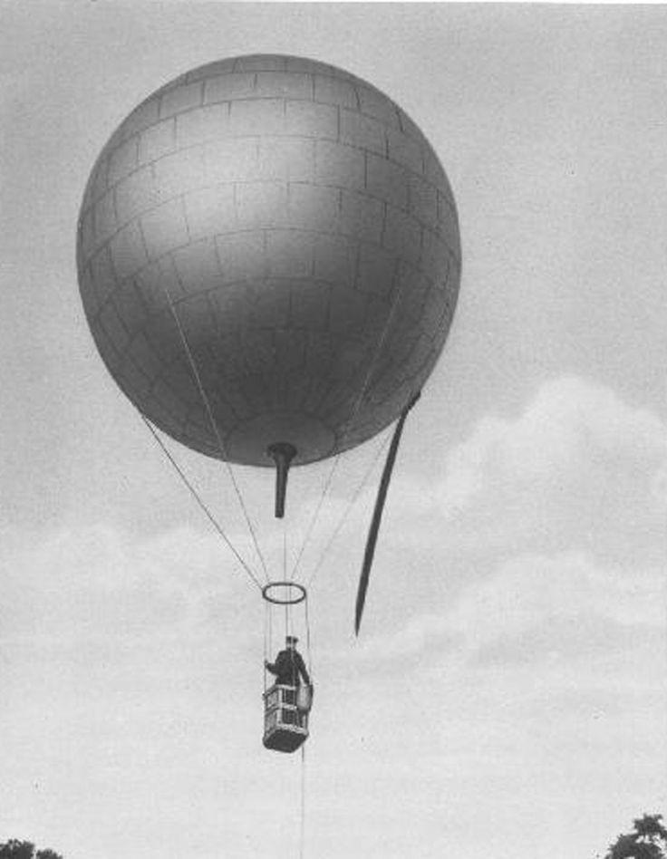 """O balão """"Brésil"""" era inflado com hidrogênio, um novo (e perigoso) conceito da época"""