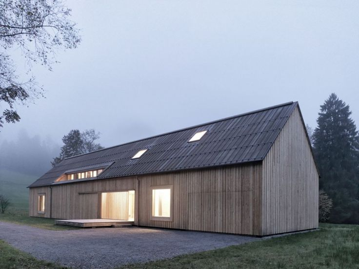 Haus am Moor / Bernardo Bader Architects If I were to build a home one day, a minimal one would be it. Lovely.