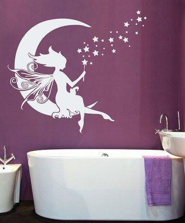 Sissy Little White Moon Fairy Wall Decal Thoughts Of You