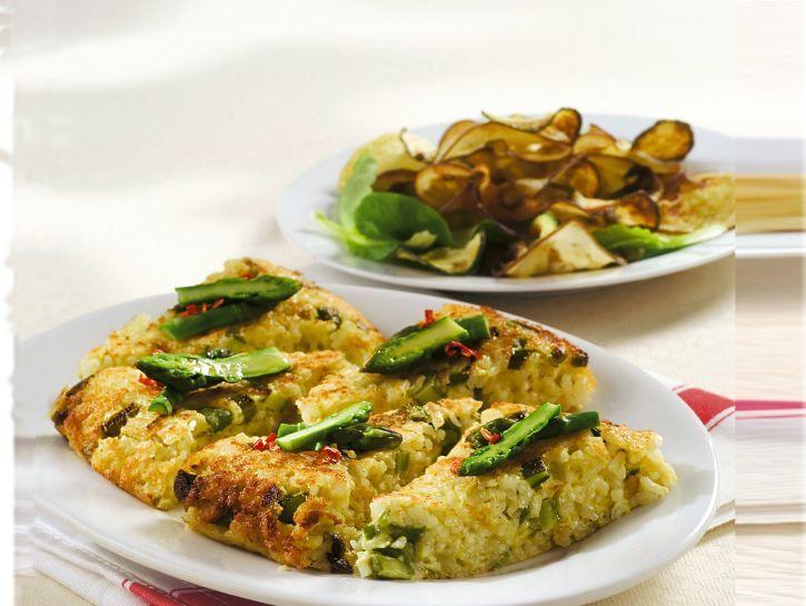 frittata-di-riso-asparagi-e-formaggio ricetta