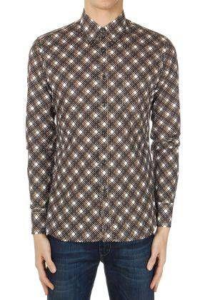 #Prada camicia a quadri in popeline di cotone  ad Euro 168.69 in #Prada #Camicie uomo