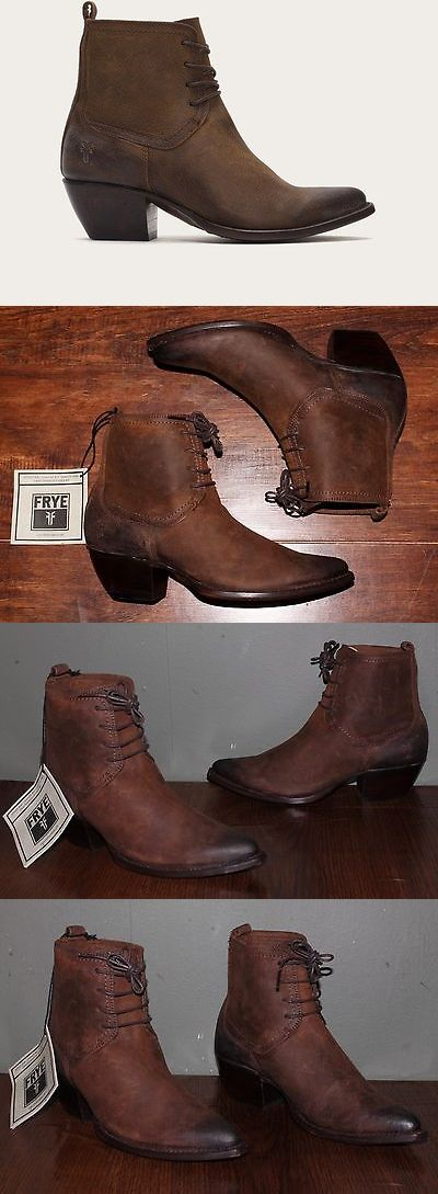 Boots 53557: Frye Sacha Chukka Brown Leather Women'S 8 Us Cowboy Short Ankle Lace Boots New -> BUY IT NOW ONLY: $199.99 on eBay!