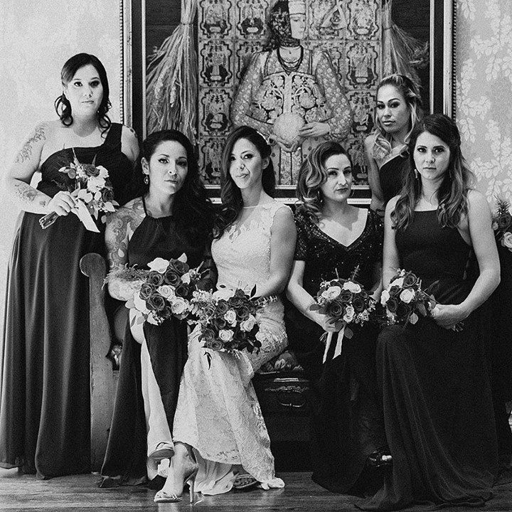 HBD to this fox she got married 2 weeks ago and it was like the best ever. #squadgoals achieved   @herekittysoftpaws    #bossbitchs #wedding #weddingday #weddingcrew #loveyouguys http://ift.tt/2hbKDr4