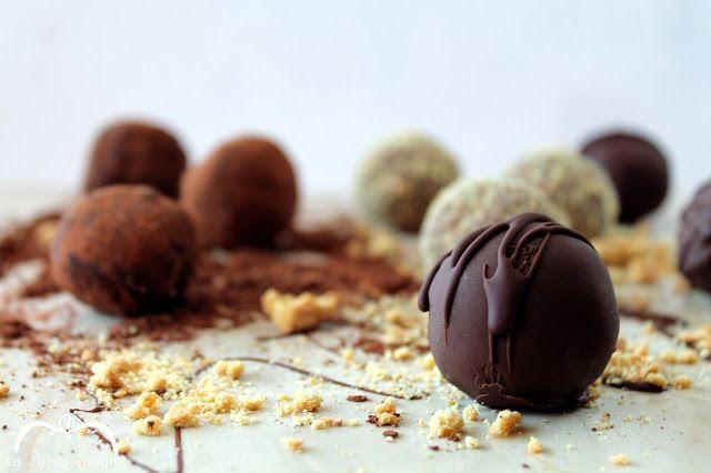La Zucca candita: Tartufi di cheesecake al cioccolato