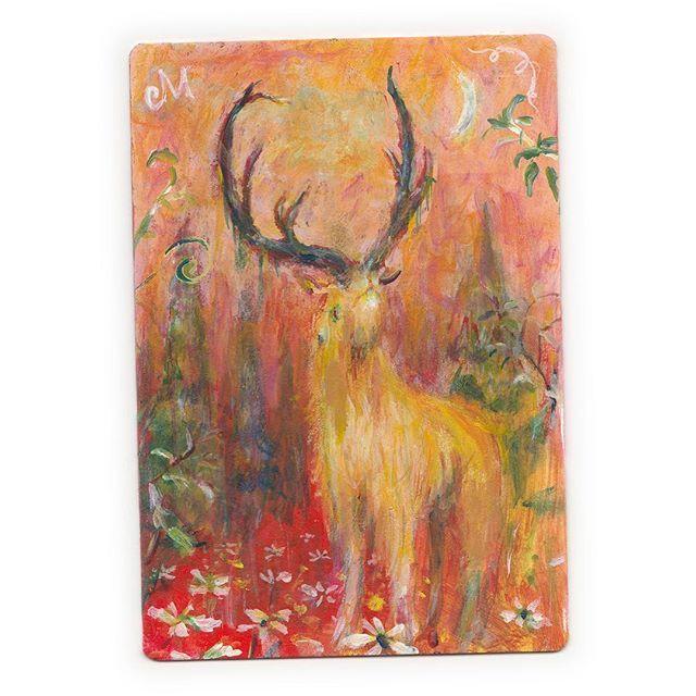 【muranagi】さんのInstagramをピンしています。 《#ムラナギ作品 #737 赤い森の夢 2017 (9.0cmx13.0cm) 森の詩が聴こえる……囁くような、揺れるような、いつか見た懐かしい風景。 #art #woods #nature #dream #moon #forest #deer #card #watercolor #graphic #character #magic #flower #creature #monster #red #絵画 #魔法 #カード #鹿 #怪物 #森 #生き物 #月 #鳥 #ハンドメイド #雑貨》