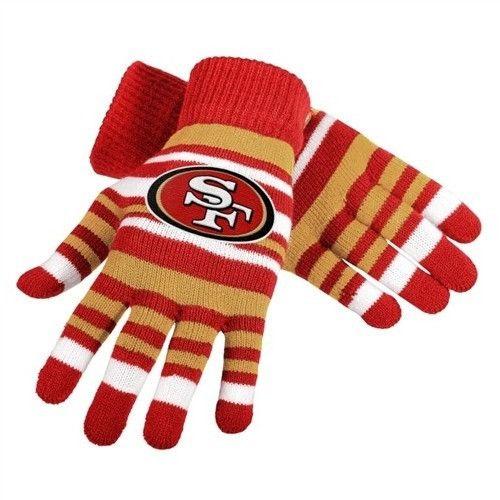 San Francisco 49ers NFL Football Team Logo Stretch Gloves