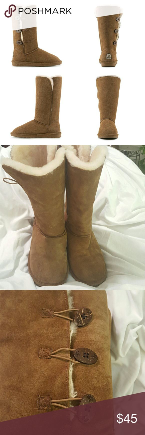 Selling this BearPaw Lauren suede sheepskin wool boots on Poshmark! My username is: andreallmoore. #shopmycloset #poshmark #fashion #shopping #style #forsale #BearPaw #Shoes