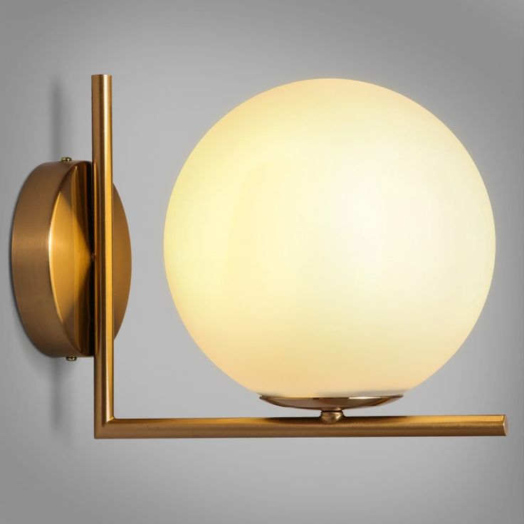 Cattel Simple White Globe Glass Shade Single-Light Indoor Wall Sconce - Indoor Sconces - Wall Lights - Lighting