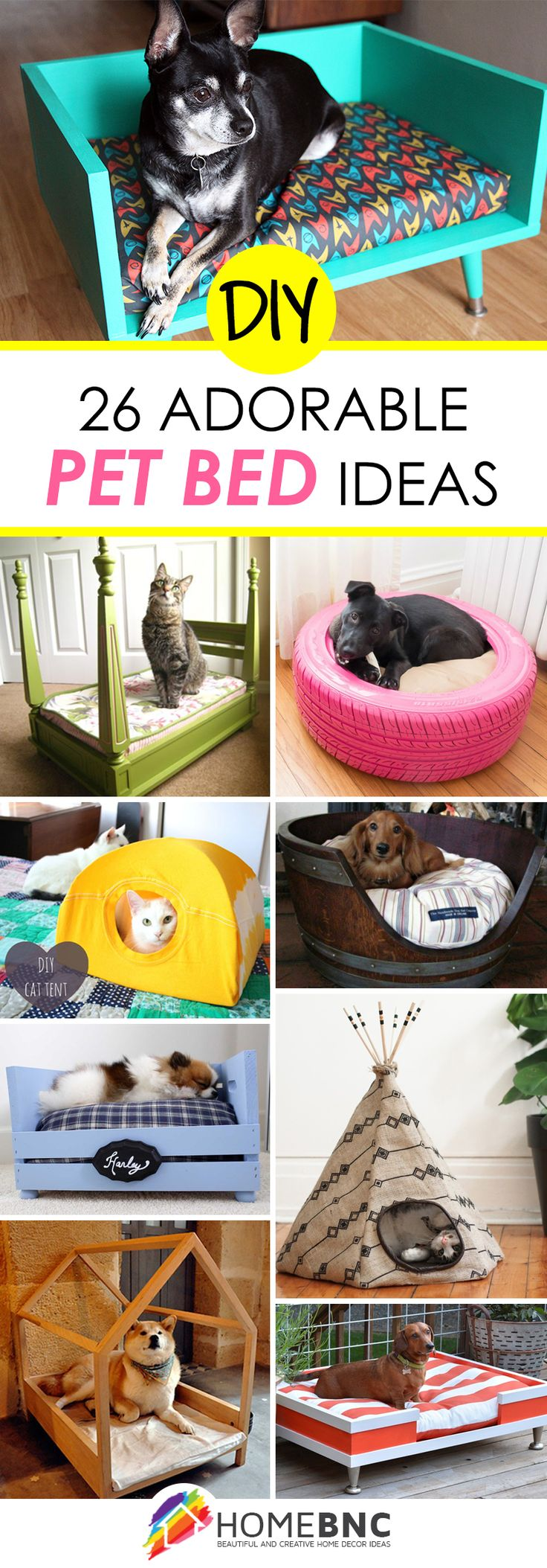 DIY Pet Beds - Tap the pin for the most adorable pawtastic fur baby apparel! You'll love the dog clothes and cat clothes! <3