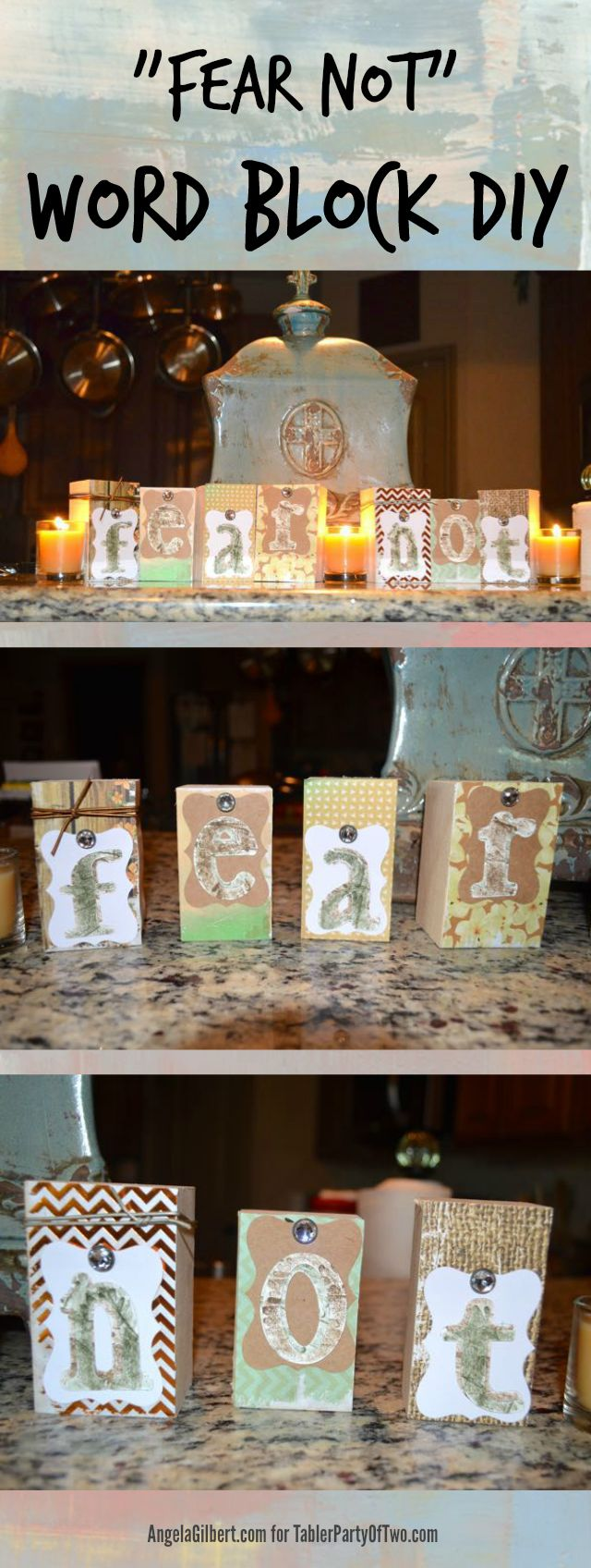 Word Block DIY... so easy and I love the finished product! TablerPartyofTwo.com