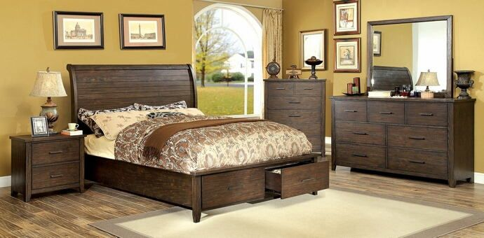 Cm7252 5 Pc Ribeira Espresso Finish Wood Queen Bed Set With