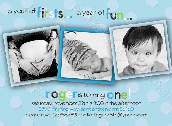 99 best images about harpers first birthday on Pinterest 1st - invitation card for ist birthday