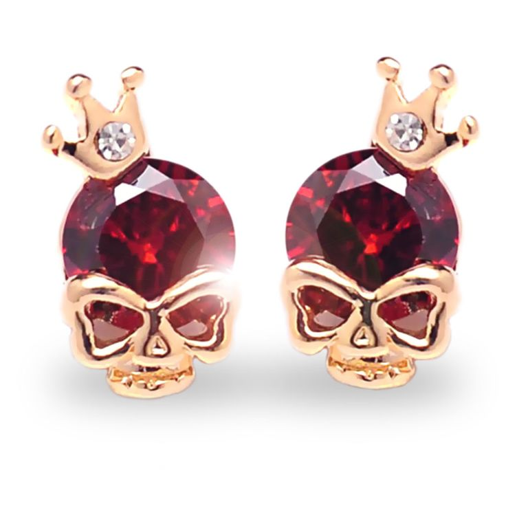 Crowned Skull Earrings from GothRider.com