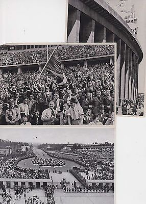 1936 BERLIN OLYMPIC GAMES STADIUM ORIGINAL VINTAGE PHOTO POSTCARDS LOT