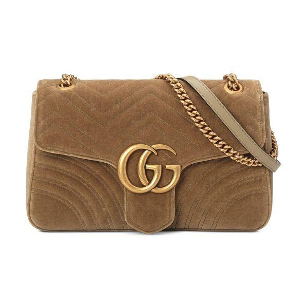f966483d45 Gg marmont medium velvet shoulder bag by Gucci #gucci #bags ...
