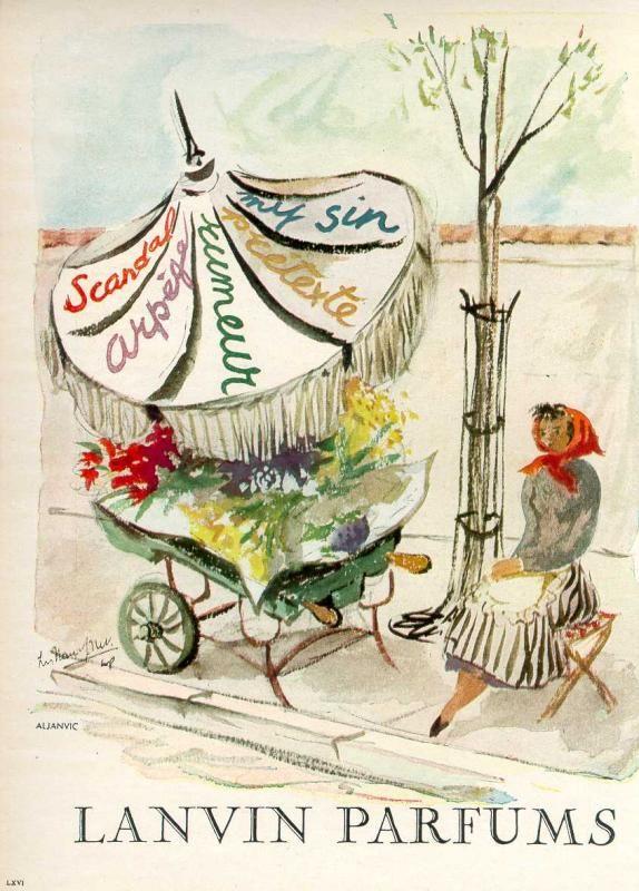 vintage perfume ad: Lanvin Parfums ad