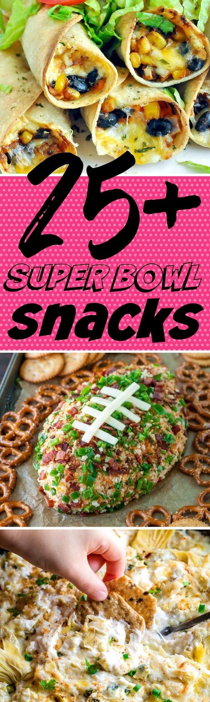 A party-worthy round up of the best Super Bowl snacks and appetizers that are sure to drive your crowd wild on game day! Vegetarian, T-Rex, Low-Carb and Gluten-Free options available in this tasty tailgate collection. #gameday #superbowl #appetizers #snacks