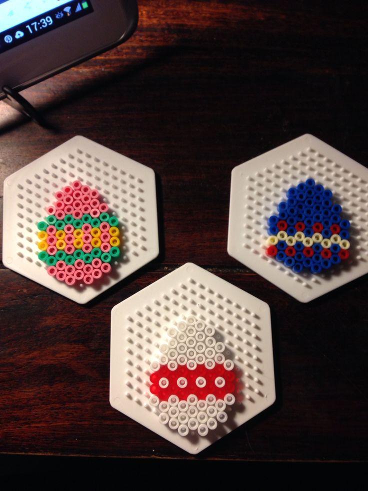 Easter eggs hama perler beads by Dorte Marker