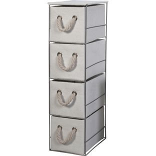 Buy Tall 4 Drawer Storage Tower - White at Argos.co.uk, visit Argos.co.uk to shop online for Bathroom shelves and units