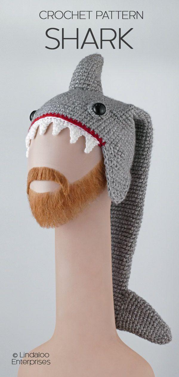 Shark Hat Crochet Pattern From The Book Amigurumi Animal Hats