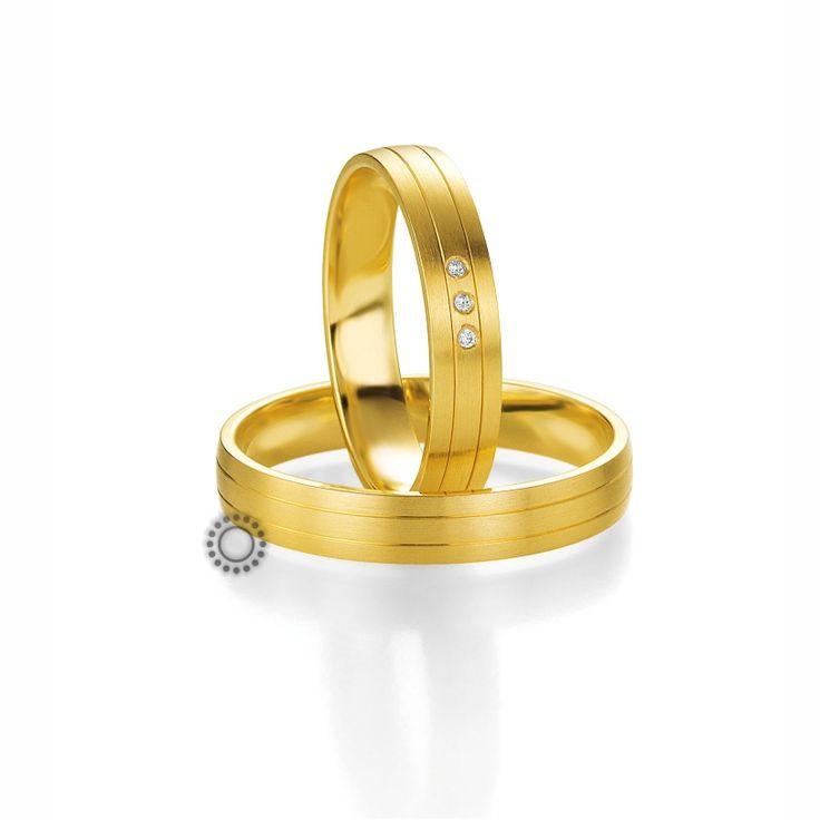 Βέρες γάμου BENZ 009 & 010 - Μοντέρνες ματ χρυσές βέρες Benz με διακριτικές γυαλιστερές γραμμές | ΤΣΑΛΔΑΡΗΣ στο Χαλάνδρι #βέρες #βερες #γάμου