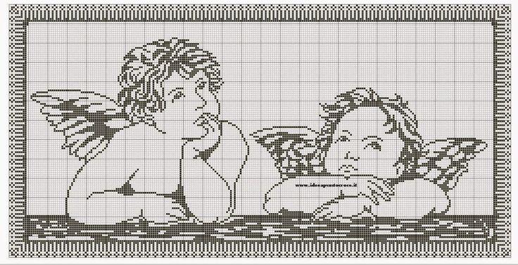 angeli punto croce filet | Hobby lavori femminili - ricamo - uncinetto - maglia