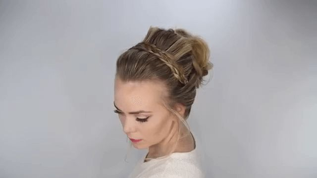 Braided Headband Updo For Daily Hairstyle - http://www.beautifuldiyhairstyles.com/braided-headband-updo-for-daily-hairstyle/