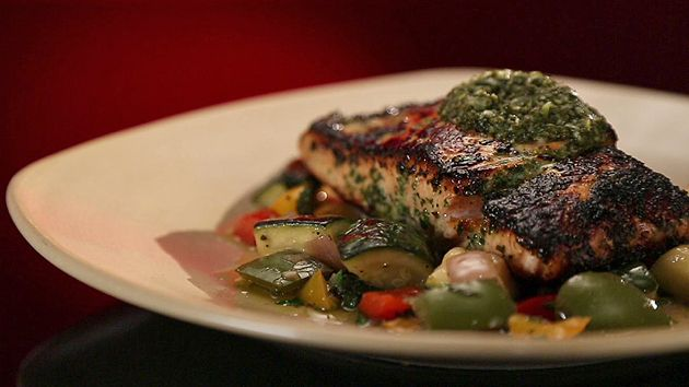 MKR4 Recipe - Salmon with Mediterranean Vegetables