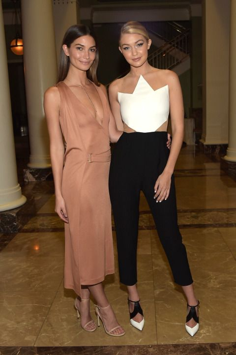 Lily Aldridge and Gigi Hadid's Street style