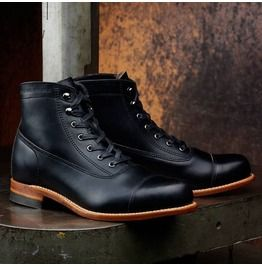 Handmade Men Black Real Leather Ankle Boot, Mens Leather Boot, Men Boots