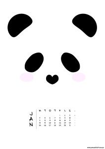 Free panda calendar! Print and enjoy!