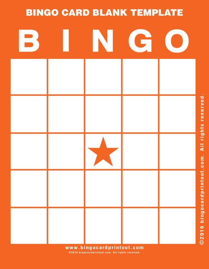 Bingo Card Blank Template Bingocardprintout Com In 2020 Bingo Card Generator Bingo Cards Bingo Card Template