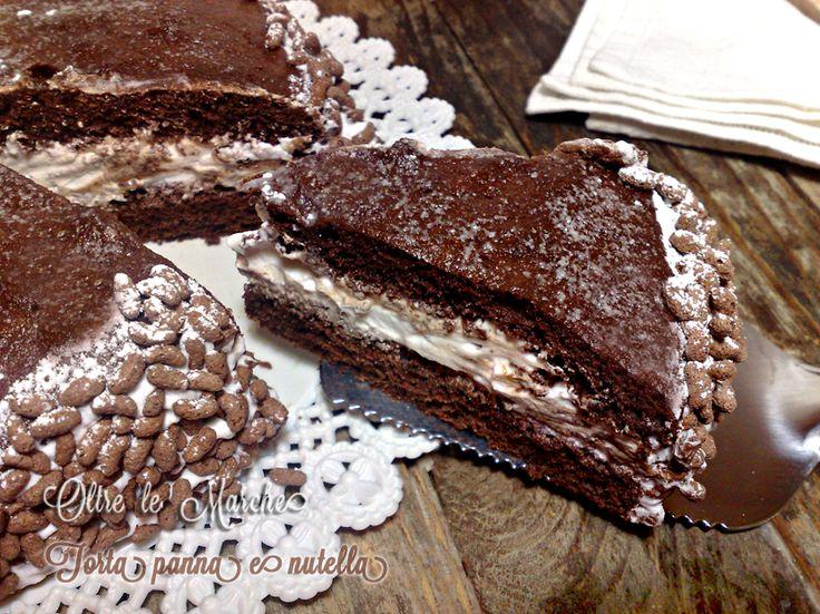 Torta panna e nutella, al cioccolato | Oltre le MarcheOltre le Marche