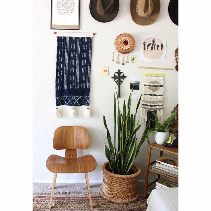 Indigo Tie Dye Tapestry, Tassel Wall Hanging, Wall Banner, Boho Decor, Indigo Mudcloth Wallhanging, Bohemian Home Decor, norwegianwood by iheartnorwegianwood on Etsy https://www.etsy.com/listing/386218254/indigo-tie-dye-tapestry-tassel-wall