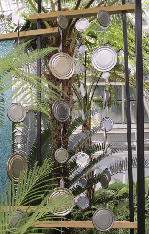 garden art from junk | ... beginning of reducing the amount of trash that ends up in landfills