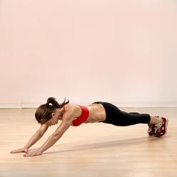 Extended plank. Totally using this in my HIIT class.