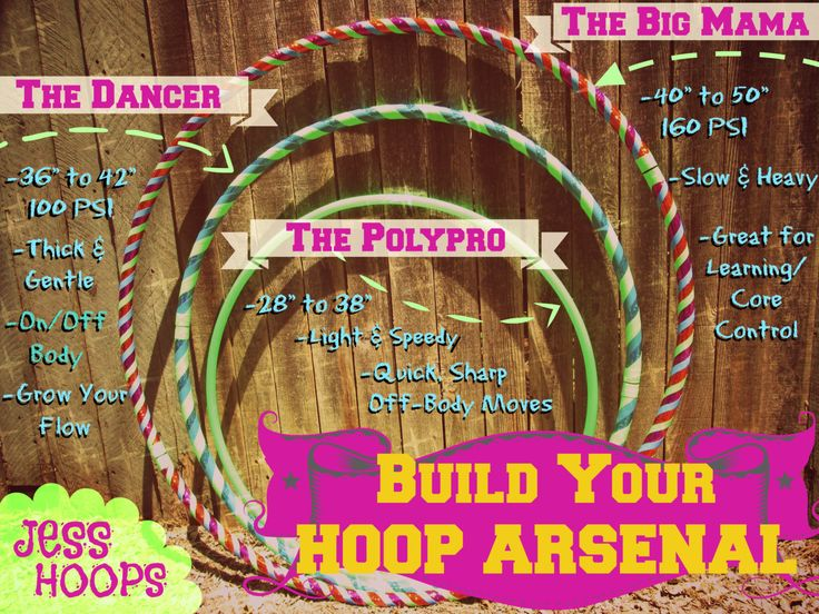It's good to have many hoop sizes on hand! Build a Hoop Arsenal!